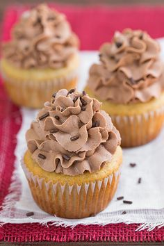 Banana Cupcakes with Nutella Buttercream Frosting- I Just really wanted the Nutella frosting :-)