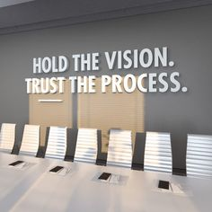 Trust The Process Office Design Office Decor Office Corporate Office Design, Office Wall Design, Office Branding, Office Wall Decor, Office Walls, Office Interior Design, Office Interiors, Office Art, Office Designs