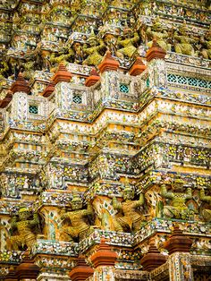Thai pattern, via Flickr.  Wat Arun. Bangkok Thailand