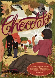 Chocolataria Equador Autumn Poster Portugal, Chocolate Brands, Handmade Chocolates, Equador, Lisbon, Vintage Antiques, Comic Books, Autumn, Cakes