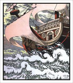 Иван Билибин, Русалочка  Hans Christian Andersen. The Little Mermaid. Illustrator Ivan Bilibin.