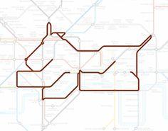 London, Design, Brown, Dog, Subway, Poster