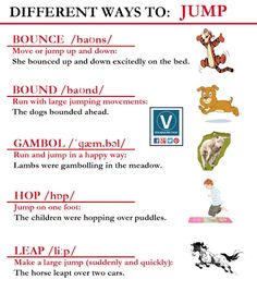 Worksheets Synonym Of Jump 1000 images about synonyms on pinterest d english and swift different ways to jump