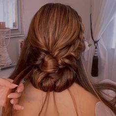 Hair Up Styles, Long Hair Wedding Styles, Relaxed Updo, Hair Style Vedio, New Hair Look, Bridal Hair Updo, Braided Hairstyles For Wedding, Bridesmaid Hair, Hair Looks