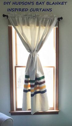 Easy DIY Hudson Bay Curtains