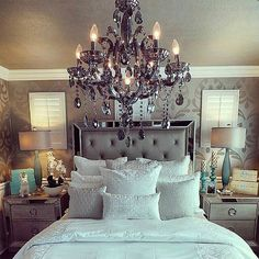 Room Inspo #love #frenchdecor #frenchprovincial #homedecor #romantic #romanticbedroom #bedroom #inspo #inspirational #love #ilovethis #iloveit #pretty #silver #boudoir #shabby #happy #photooftheday #awesome #instalike #like #likeforlike #chandelier #chandeliers #iloveyou #amazing by s3vg0shxx