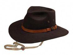 Kodiak Mens Hat Brown 100% Cotton Oilskin Waterproof 9e387bc2a118