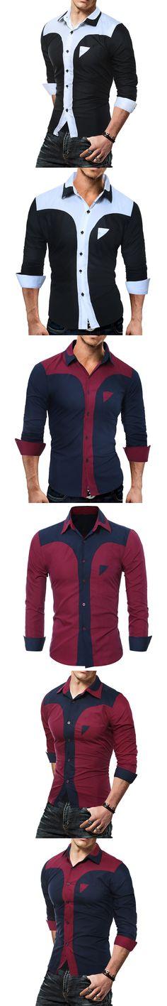 2017 New Fashion Casual Men Shirt Long Sleeve Business Slim Fit Shirt Men High Quality Mens Dress Shirts Men Clothes 3XL