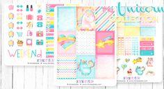New Unicorn Planner Stickers plus a FREE Planner Sticker Printable