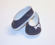 American Girl doll shoes available on Etsy!  https://www.etsy.com/listing/188571435/navy-blue-with-white-polka-dot-ballet?ref=shop_home_feat_4