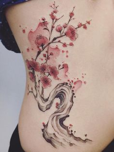 Cherry Blossom Tattoo: Meaning, Designs, Ideas and Much More! Sakura tattoos have been taking the world by storm lately. From what each color tattoo means to plenty of designs, this article will make you want to get a cherry blossom tattoo for yourself! Full Body Tattoo, Body Art Tattoos, New Tattoos, Sleeve Tattoos, Cool Tattoos, Tattoo Ink, Tatoos, Henna Tattoo Designs, Tattoo Designs For Women