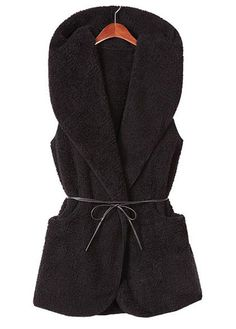 cozy sleeveless coat