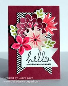 Stampin Up Flower Patch Stamp Set and Flwer Flair Framelits by Claire Daly Stampin Up Demonstrator Melbourne Australia www.clairedaly.typepad.com by marcie