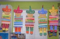 Pre K: practice painting lines to create poncho Mexico For Kids, Mexico Crafts, Diy For Kids, Crafts For Kids, Cultural Crafts, Mexico Culture, Mexican Party, Mexican Costume, Thinking Day