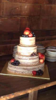 Most beautiful naked wedding cake.  https://www.facebook.com/BakedByAnna
