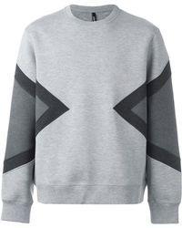 Neil Barrett   Colour Block Sweatshirt   Lyst