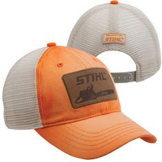 e65b09552e2 Stihl Chainsaws - Washed Orange Trucker Cap Baseball Hats