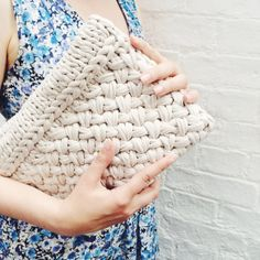 The Hold Tight Clutch in Hot Latte makes us swoon! #madeunique by Gang Maker Harrison. #woolandthegang