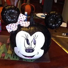 My Minnie Mouse Painted Pumpkin I Heart Disney Xox