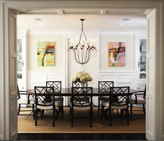 Abstract Landscape Oil Paintings - traditional - dining room - los angeles - Blue Tangerine Art
