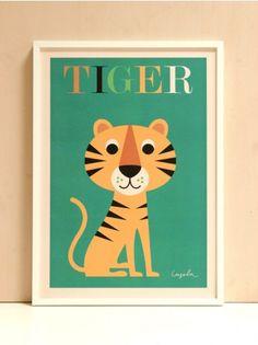 Tiger Art Print, Ingela P Arrhenius