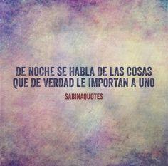 De noche #Sabina