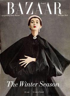 ダイアナ・ヴリーランドによる表紙。ハーパーズ バザー 1950年11月号より。