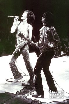 Mick Jagger and Keith Richards Empire Pool, Wembley, England September 1973.
