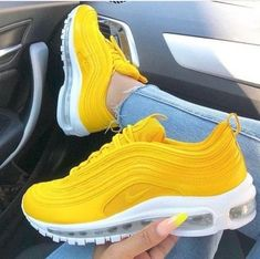 Women's nike air max 97 lemon yellow white trainer sale uk, free delivery on orders over two shoes. Buy Nike Air Max 97 Silver Bullet, Black, Gold Trainers For Mens & Womens 54 Slides Shoes To Update You Wardrobe Today Shoes Flawless Slides Shoes Discount Moda Sneakers, Cute Sneakers, Sneakers Mode, Sneakers Fashion, Yellow Sneakers, Yellow Trainers, Yellow Shoes Outfit, Ladies Sneakers, Shoes Trainers Nike