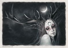 "Female Tribal Faun - ""Ouroboros"" by Victoria Francés"