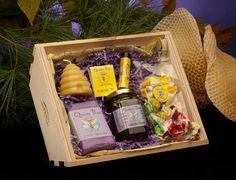 Lavender Honey Bee hive gift basket by Queen Bee by queenbeehoney, $24.95