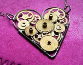 Tiny Love - clockwork heart necklace
