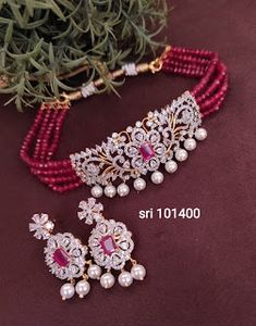Indian Gold Necklace Designs, Pearl Necklace Designs, Indian Jewelry Sets, Jewelry Design Earrings, Bridal Jewelry Sets, Beaded Jewelry, Gold Jewelry, Bridal Jewellery, Beaded Necklace