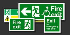 Emergency & Fire Exit Signs