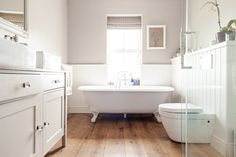 Tranquil neutral bathroom | 3 Bed Renovated Hertfordshire Victorian Terrace