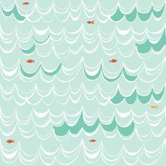 Swim  Under the Sea  Monaluna Fabrics  Organic by murdockdesign