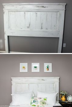 DIY Build this Farmhouse Style Headboard for around 100 It will be the center of your bedroom makeover Diy Furniture, Bedroom Makeover, Bedroom Diy, Headboard Styles, Farmhouse Headboard, Home Decor, Farmhouse Furniture, Bedroom Decor, Diy Headboard