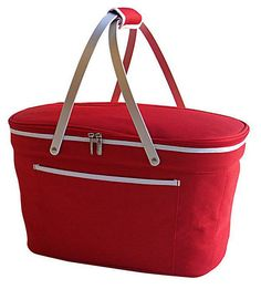 One Kings Lane - Have Some Fun! - Collapsible Basket Cooler, Red