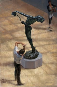 Dance at the Met, Oil on Canvas by William A. Suys Jr., OPA, at a Scottsdale art gallery