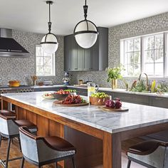 Kitchens On Pinterest Butcher Block Countertops White Kitchens And