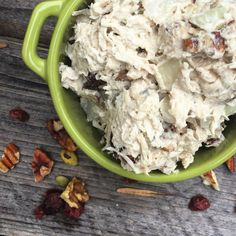 Cranberry Nut Chicken Salad - Full Belly Whole Heart New Chicken Recipes, Good Food, Yummy Food, Chicken Salad, Food Dishes, Food To Make, Meal Planning, Clean Eating, Dinner Recipes