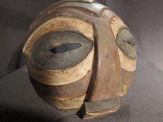 Luba round mask #3.African tribal art.