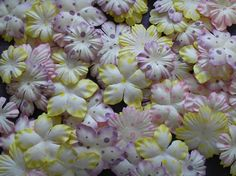 100 Mulberry paper PASTEL POLKA DOT FLOWERS 35 & 50mm Paper Flowers, Cow, The 100, Polka Dots, Pastel, Crafty, Plants, Plant, Polka Dot