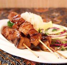 Teriyaki Blue Marlin Skewers