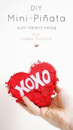 Eine Mini-Piñata selber machen? Klar! Und zwar mit Verpackungsmüll. Wir haben also ein tolles Valentinstag Geschenk bzw. ein Valentinstag DIY und sind damit noch ganz vorne an der Upcycling-Front dabei. Denn die Mini-Piñata in Herzform zum Valentinstag machst Du aus alten Verpackungen. DIY, Valentinstag, selbermachen, Pinata Anleitung, Mini-Pinata selber basteln, Tutorial, Video-Tutorial