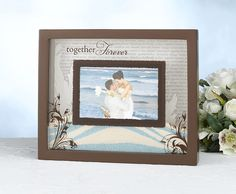 Unity Sand Frame --Cool idea for the sand ceremony.  I like this ..getting it