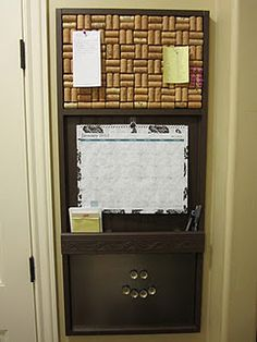 wine cork message center - I would need Karon's help with this one!