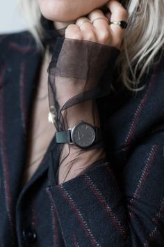 Sabrina Meijer wearing Wouters & Hendrix AW2015 HOW TO STYLE YOUR WATCH - afterDRK