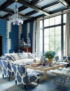 Mooie,frisse en toch gezellige blauwtinten