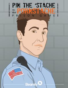 Pin the 'Stache Orange is the new Black game